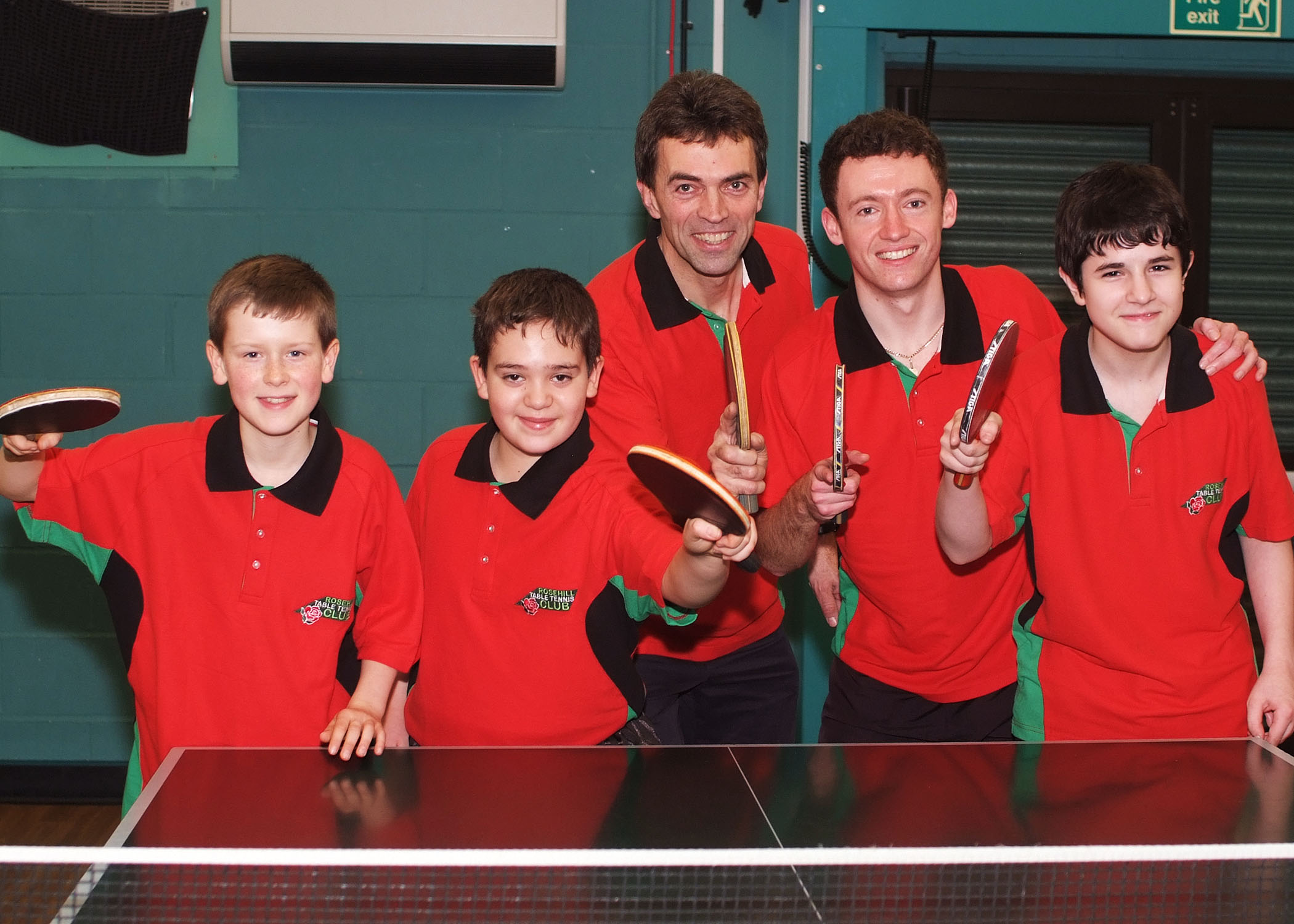 Image of MP Tom Blake at Rosehill Table Tennis Club Sutton